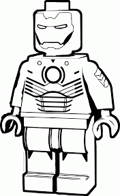 Lego Iron Man Coloring Sheets