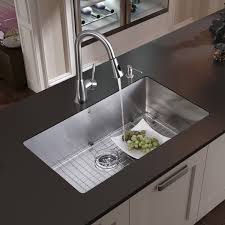 Overstock Stainless Steel Kitchen Sinks by Vigo All In One 32 U201d Mercer Stainless Steel Undermount Kitchen Sink