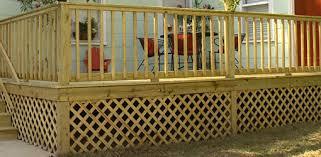 Metal Deck Skirting Ideas by Adding Wood Lattice Under Skirting Around A Deck Foundation