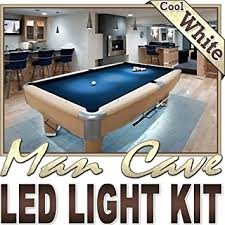 biltek 6 ft cool white cave bar pool table led lighting