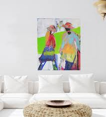 wandbild bunt große bilder gemalte wandbilder kaufen
