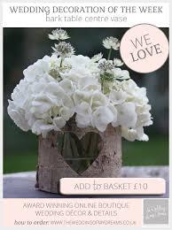Bark Vase Rustic Table Centre