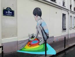 Kid Painting Ground In France By Globepainter