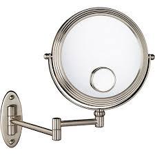 Extendable Bathroom Mirror Walmart by 1x 10x W 15x Magnification Matte Nickel Wall Mount Beauty Mirror
