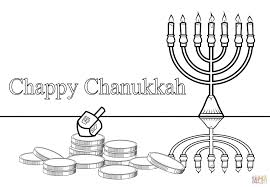 Hanukah Coloring Pages Chappy Chanukah Page Free Printable Picture
