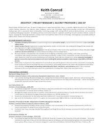 Project Manager Resume Sample Architectural Project Manager Resume