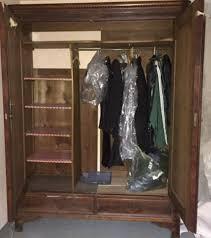 kleider schrank antik massiv holz schlafzimmer