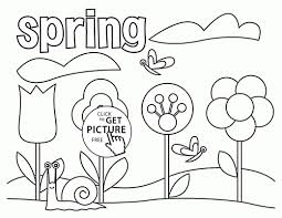 Seasons Coloring Pages Printable Refrence Spring Page For Kids Printables