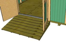Free Plans For Building A Wood Storage Shed by How To Build A Shed Ramp Add Shelves And More For Your Storage Shed