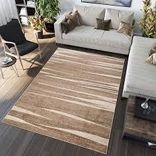 tapiso sari teppich kurzflor teppiche meliert modern beige braun creme designer streifen abstrakt muster wohnzimmer ökotex 140 x 190 cm