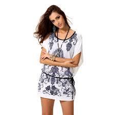 Vestidos Women Summer Dress Fashion Female Clothing Casual Brand Desigual Vintage Bohemian White