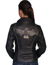 scully women u0027s studded lamb leather motorcycle jacket country