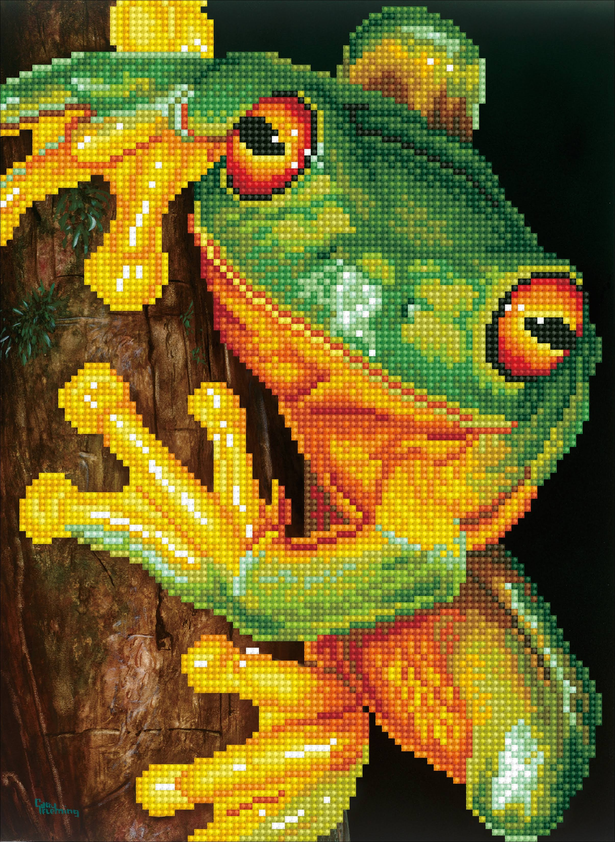 Diamond Dotz 5D Embroidery Facet Art Kit - Green Tree Frog, 27cm x 37cm