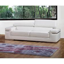 canap contemporain canapé 3 places blanc en cuir contemporain achat vente canapé