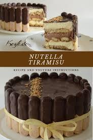 nutella tiramisu no bake cake torten rezepte kuchen und
