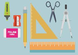 bureau enseignant image vectorielle gratuite bureau matériel enseignant règle