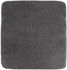diluma wc vorleger ohne ausschnitt 50x50 cm grau badteppich flauschiger hochflor weich rutschfest saugstark