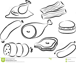 Bacon Clipart Protein Pencil And In Color Bacon Clipart Protein in Protein Clipart Black And