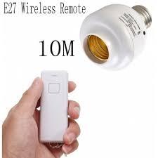 e27 10m wireless remote l holder light l bulb