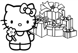 728x493 Cute Merry Christmas Coloring Page Pages Kids