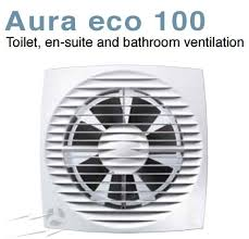 Humidity Sensing Bathroom Fan Wall Mount by Aue100ht Aura Eco 100mm 6w Quiet Fan With Timer And Humidity