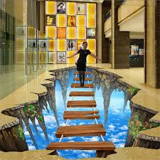 Beibehang Free Shipping 3D Stereoscopic Illusion Paintings Wall Painted Murals Graffiti Art Diamond Waterfall Wallpaper