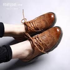 Oxford Shoes For Women Genuine Leather Tassel Flats Fashion Brand Dress Ladies Flat