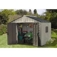 suncast sutton 7 ft 3 in x 7 ft 4 5 in resin storage shed with