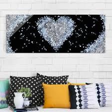 breite 40 cm x höhe 30 cm glasbild motiv löwe wohnzimmer