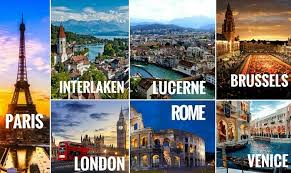 A Collage Of The Cities Covered In Your Europe Trip Through 5 Best Countries