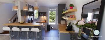 you cuisine dezign you maison conviviale cuisine ouverte avec bar bois