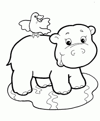 Simple Coloring Jungle Printable Pages For Animal Ccoloringsheets