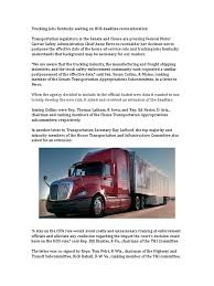 Trucking Jobs Kentucky Waiting On HOS Deadline Reconsideration | The ... Company Driving Jobs Vs Lease Purchase Programs Join Our Team Graham Trucking Inc Terpening Petroleum Fuel Delivery Jrc Flatbed Truck Driver Highland Transport Fritolay Truck Driving Jobs Youtube Heartland Express Selfdriving Trucks Are Going To Hit Us Like A Humandriven Long Short Haul Otr Services Best Welcome United States School