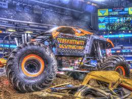 100 Monster Trucks Indianapolis Maximum HDR Lucas Oil Stadium IN Photo