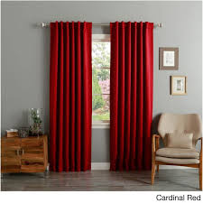Absolute Zero Curtains Red by Aurora Home Insulated Thermal Blackout 84 Inch Curtain Panel Pair