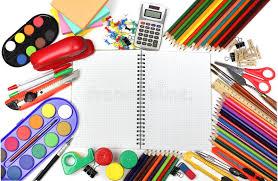 fournitures de bureau fournitures de bureau d école et photo stock image du retrait