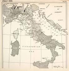 1932 Print Map Europe Italy Hungary Naples Tuscany France Tyrol Savoy XEL5