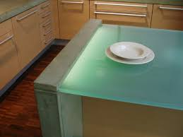 100 Countertop Glass Sandblasted Glass Countertop Lit From Underneath With An