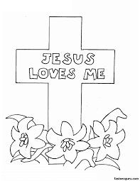 Download Coloring Pages Religious Easter Happy Jesus Images Archives