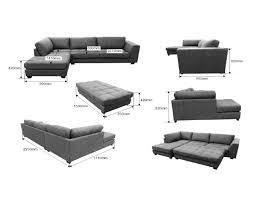 pouf canapé canapé gris avec angle au choix glendo hcommehome