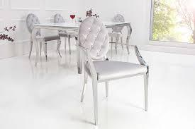stuhl louis barock esszimmerstuhl grau silber 2er armlehne