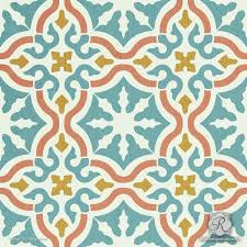 toledo tile stencil painted patterns tile design and stenciling