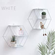 diafrican sechseckiges wandregal geometrische wanddekoration sechseckig dekoratives regal für wohnzimmer schlafzimmer weiß