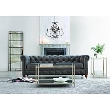Home Decorators Collection Home Depot by Home Decorators Collection Gordon Blue Leather Sofa 0849400310