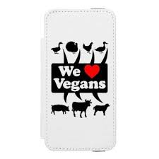 We love Vegans blk iPhone SE 5 5s Wallet Case animal