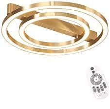 ring led gold deckenleuchte wohnzimmer leuchte
