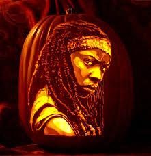 The Walking Dead Pumpkin Stencils Free by Thepumpkingeek Creates Most Amazing Pumpkin Art Ever