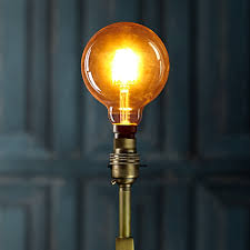 large globe led filament bulb with bayonet b22 fitting lightbulbs