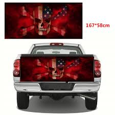 100 Pickup Truck Rear Window Graphics Flame Skull Fender Tailgate Decal Wrap