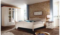 landscape komplett schlafzimmer 4 tlg in kieferfarben weiß kieferfarben weiß